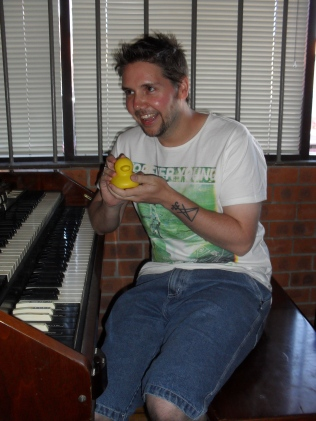 Adam Jordan and Producer Duck. Photo by Mandy Craig