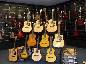 Awesome guitars at Haworth Music Centre Wollongong. Photo by Mandy Craig