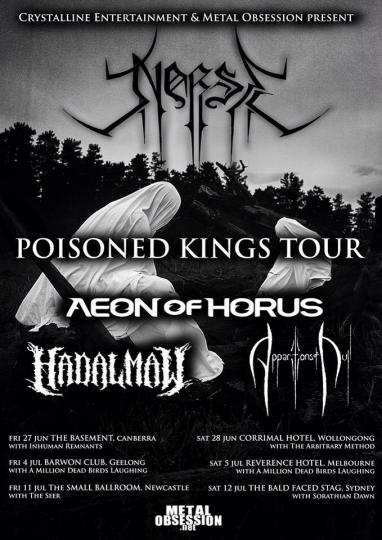 """""""We are flippin' excited! Holy crap, that line up!"""" Says Samuel Maher about the Poisoned Kings Tour."""