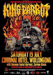 King Parrot, Saturday 19 July, Corrimal Hotel