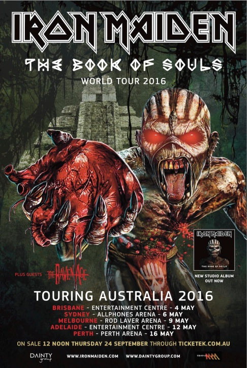 Iron Maiden 'The Book of Souls' World Tour - Australia